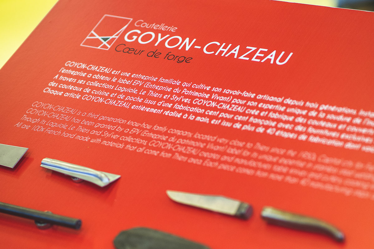 Stand Goyon et Chazeau- Salon de la Maison & de l'objet